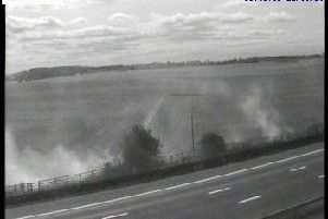 A picture of the motorway blaze.