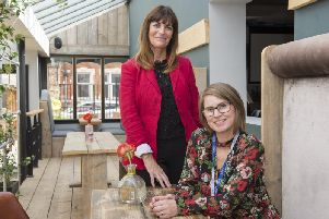 Jackie Bailey (chair Doncaster town centre business forum ) and Sian Dudley from Cast. Picture: Dean Atkins