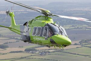The Children's air ambulance, based at Doncaster airport