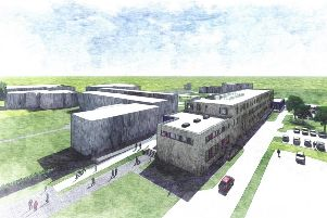 An artists impression of how the rebuilt Ash Hill Academy will look