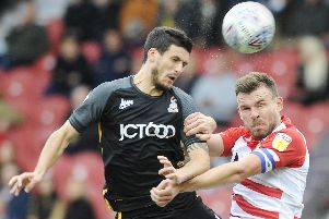 Andy Butler impressed at the heart of the Doncaster defence.
