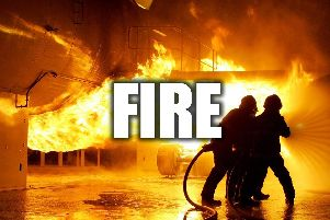 Firefighters tackle blaze on South Yorkshire wasteland