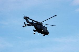 Matthew Blourton captured one of the military helicopters on camera over Sprotbrough. (Photo: Matthew Blourton).