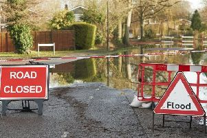Flood causes road closure