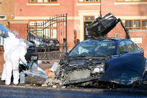 The scene of a fatal crash on Bawtry Road,Bessacarr,Doncaster, on Xmas Eve......Pic Steve Ellis