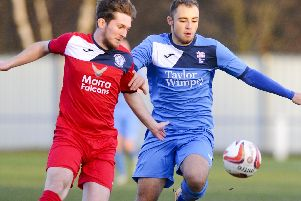 Jordan Buckham, right, scored a late winner for Rossington Main.