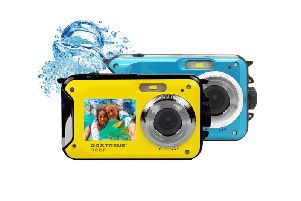 GoXtreme Reef action cam in blue and yellow