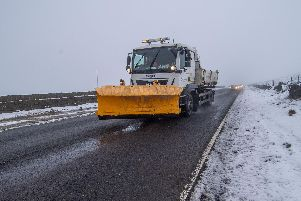 A gritter on duty.