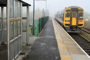 A train station. Rail services across the North saw delays and disruption this summer.