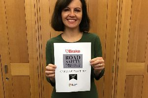 MP award for road safety