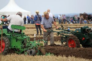 Festival of the Plough 2015 at High Burnham near Epworth. Action from the garden tractors classes.