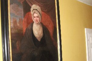 A portrait of Susanna Wesley in the Old Rectory in Epworth