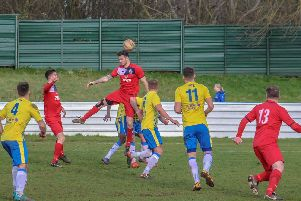 Action from Bolsover v Armthorpe Welfare. Photo: Steve Pennock