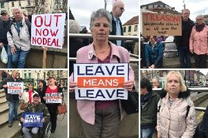 Brexit supporters in Doncaster