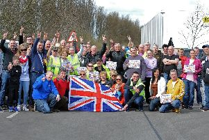 Yorkshire Brexit Action Group, get ready to begin the go slow demonstration across on major roads within the borough. Picture: NDFP-23-03-19-BrexitGoSlow-1