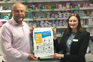 Dr Jeremy Bradley, GP and Prescribing Lead, Doncaster CCG and Pharmacy Manager, Lynn Murrie.