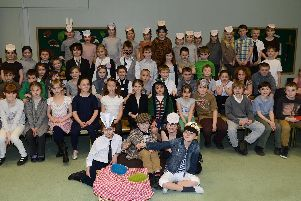 Children at Crowle Primary School perform Wind in the Willows as their Easter production in 2013