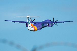 A aircraft operated by the airline Flybe (Photo by Matt Cardy/Getty Images).