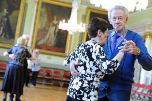 Sheila and Derek Cross, pictured during the Tea Dance at the Mansion House.