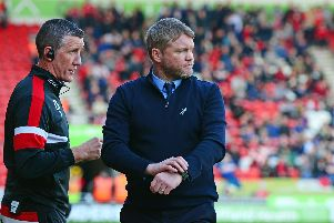 Grant McCann, manager and Cliff Byrne, assistant manager