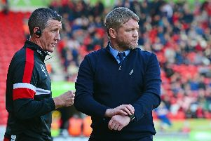 Grant McCann, pictured with assistant boss Cliff Byrne.