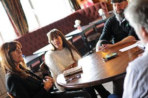Jackie Bailey, of The Magdalen, Rum Rooms and The Masons Arms, Alison Harper, of The Poacher and Ian Blaylock, of Doncaster Brewery & Doncaster Brewery Tap, pictured. Picture: Marie Caley NDFP-12-03-19-RoundTablePubs-11