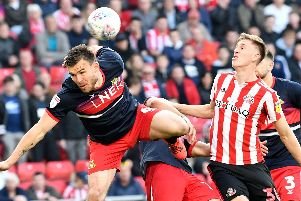 Andy Butler tussles with Jimmy Dunne. Picture by Frank Reid