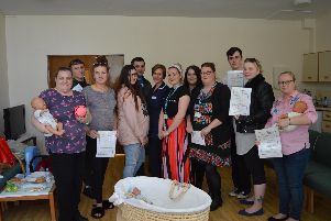 Parents-to-be at  the antenatal class
