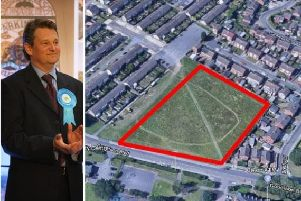 Coun Jonathan Wood and the proposed development area