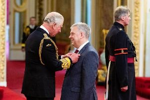 This picture is not for use after 16 July 2019, without Buckingham Palace approval.''Mr. Richard Parker from Sheffield is made an OBE (Officer of the Order of the British Empire) by the Prince of Wales at Buckingham Palace. PRESS ASSOCIATION Photo. Picture date: Thursday May 16, 2019. See PA story ROYAL Investiture. Photo credit should read: Dominic Lipinski/PA Wire '