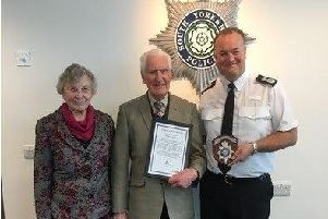 Reginald Nevett, who has celebrated 66 years of service with South Yorkshire Police.