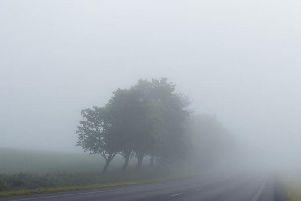 Fog is set to descend on the county.