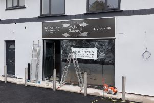 Work taking place on The Go Between micropub in Brinsley ahead of next Friday's opening.
