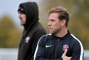Eastwood Community FC v Dunkirk, pictured is manager Dave Marlow