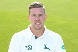 Jake Ball claimed the wicket of David Warner as England started well.