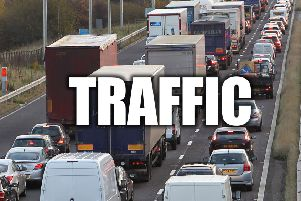 Crash near East Midlands Airport causing long delays on M1 southbound
