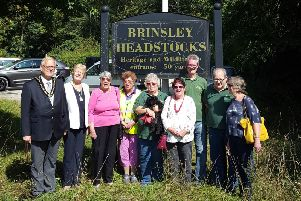 The Mayor, Coun Derek Burnett, and his wife Sonia with the Friends Group.