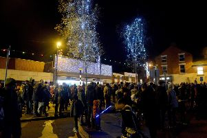 Large crowds at the Christmas lights switch-on in Eastwood last year.