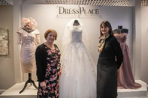 Helen Dickson, left, at the opening of her new Dressplace store in Sherwood. Photo by Steve Smailes Photography (6920358).