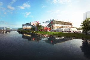 Artist impression of the new City Ground. Supplied by Nottingham Forest FC.