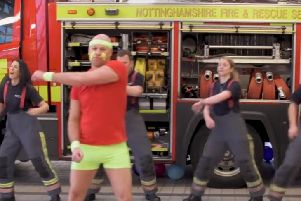 The video features staff from both Nottinghamshire Fire and Rescue Service and Nottinghamshire Police