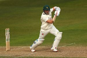 Joe Clarke hit an unbeaten 97 on a good day for Nottinghamshire. (Photo by Matthew Lewis/Getty Images)
