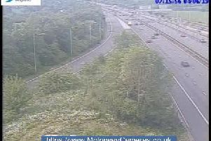 Junction 24 of the M1 this morning.