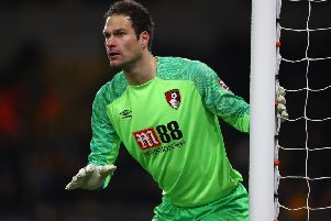 Asmir Begovic of Bournemouth.