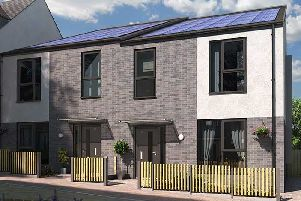 An example of a carbon-neutral home that has been built in Sheffield.