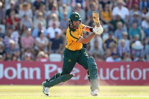 NOTTINGHAM, ENGLAND - AUGUST 25: Dan Christian of Notts Outlaws bats during the Vitality T20 Blast match between Notts Outlaws and Yorkshire Vikings at Trent Bridge on August 25, 2019 in Nottingham, England. (Photo by Jan Kruger/Getty Images)
