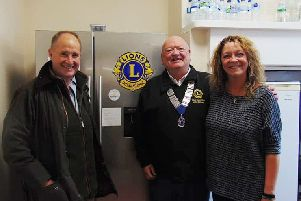 Malton MP Kevin Hollinrake and Filey Lions president John Casey on the tour.