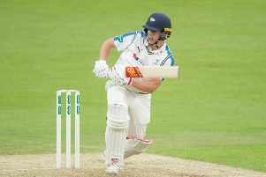Yorkshire captain Gary Ballance in action.
