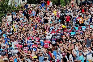 Amazing scenes as the Tour de Yorkshire leaves Richmond this afternoon. Picture: Simon Hulme