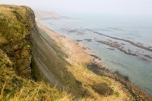 The cliffs near to Blue Dolphin Holiday Park